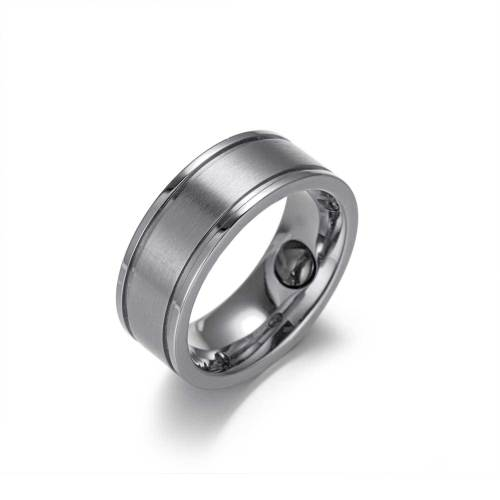 Elan stainless steel Silver color magnetic healthcare ring
