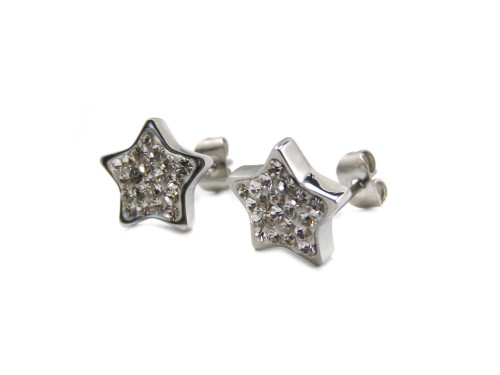Numinous stainless steel Silver color magnetic healthcare earrings