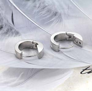 Redamancy stainless steel silver color magnetic healthcare earrings