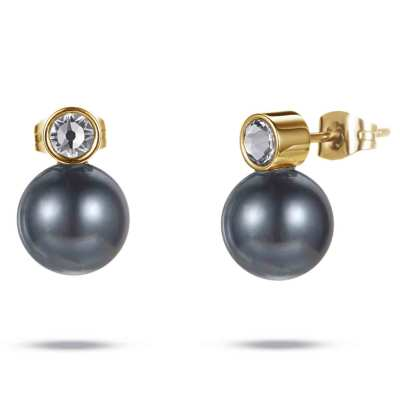 Ylem stainless steel pearl magnetic healthcare earrings