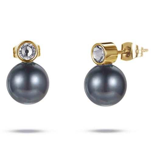 Ylem stainless steel pearl magnetic healthcare earrings