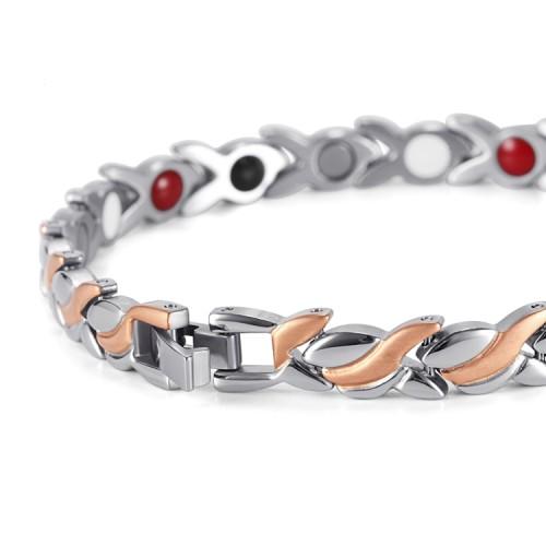 Rose gold plated magnetic bracelet