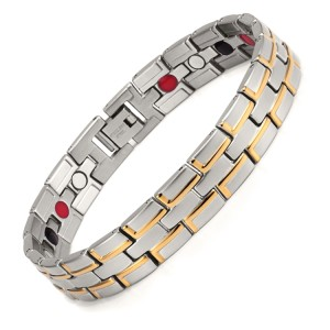 RunBalance two-tone stainless steel magnetic bracelet