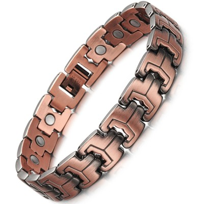 Antique copper magnetic bracelet