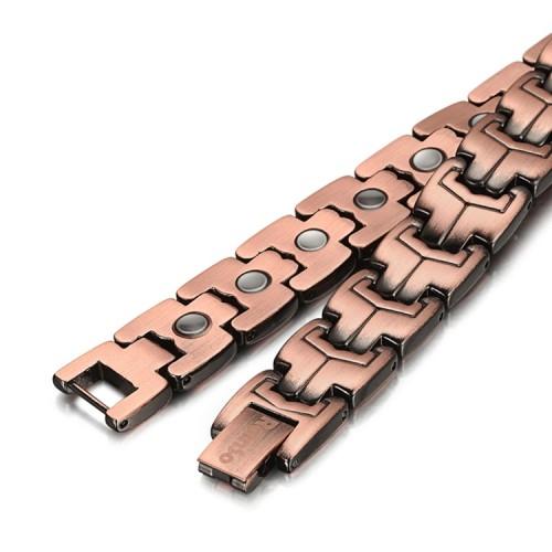 Antique copper magnetic bracelet