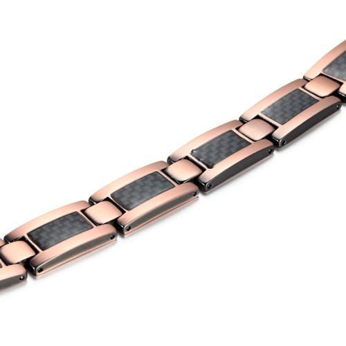 Copper and carbon fiber magnetic bracelet