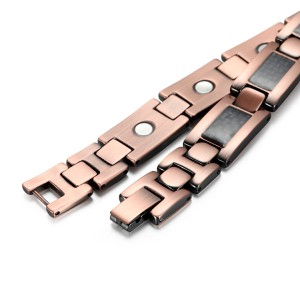 Copper and carbon fiber magnetic bracelet