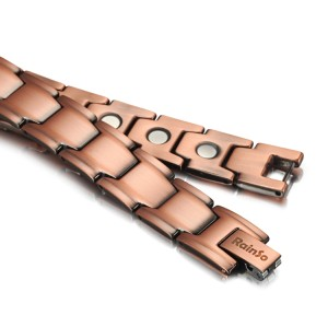 Solid copper magnetic therapy bracelet