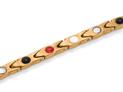 Gold Python stainless steel magnetic therapy bracelet