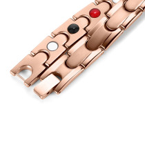 Rose gold stainless steel magnetic therapy bracelet