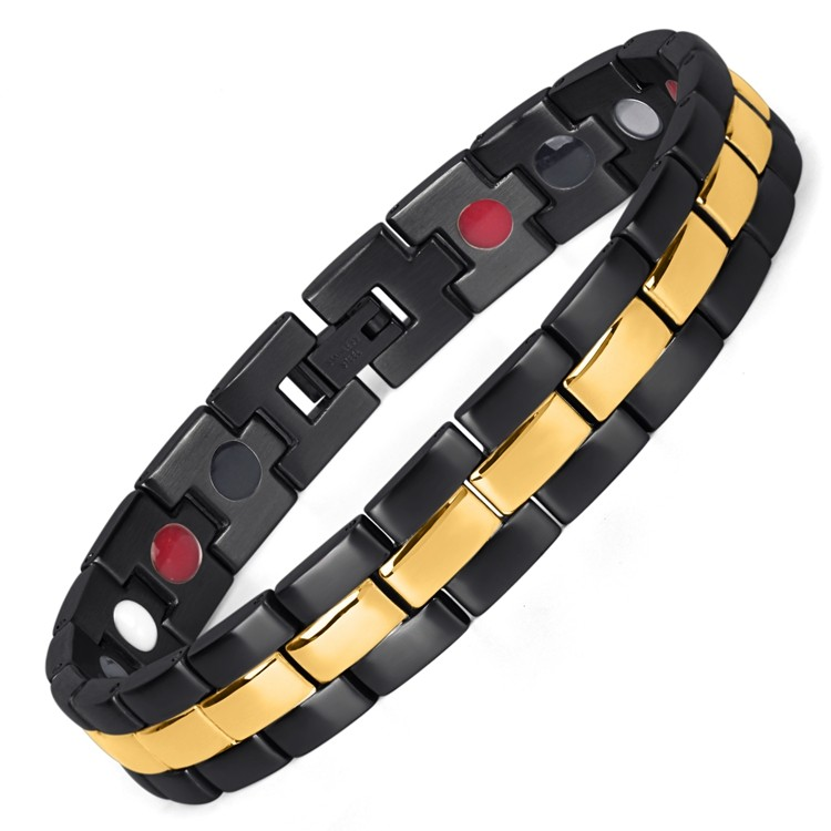 Portoro stainless steel magnetic therapy bracelet