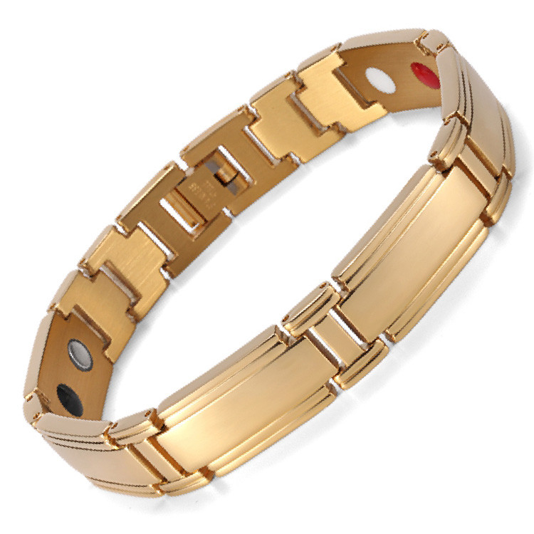 Bullion stainless steel magnetic therapy bracelet
