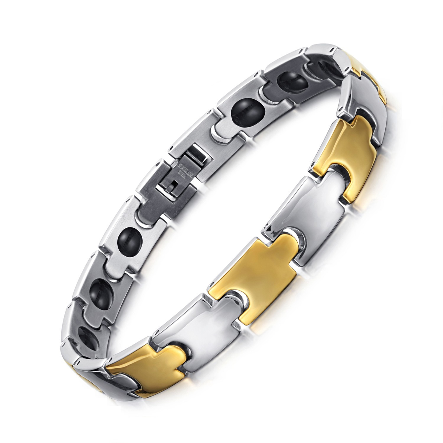 Gift stainless steel magnetic therapy bracelet