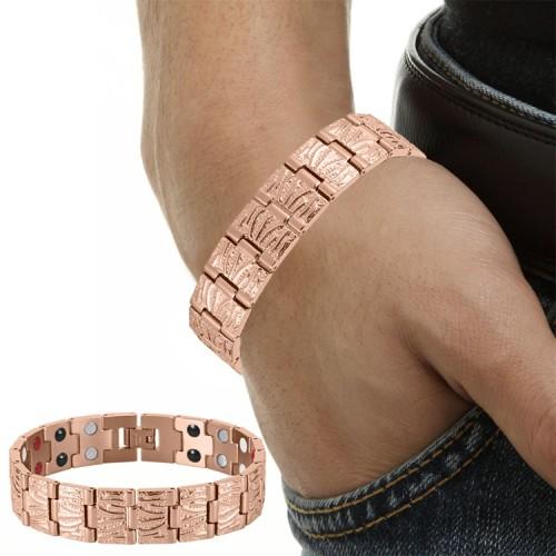 Men's style stainless steel magnetic bracelet Rose Gold