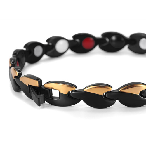 Nero Portoro style stainless steel magnetic bracelet