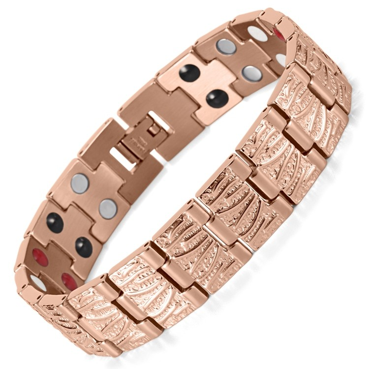 Men's style stainless steel magnetic bracelet