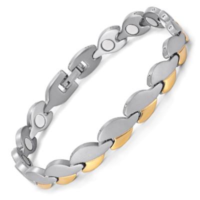 Nero Portoro stainless steel magnetic bracelet