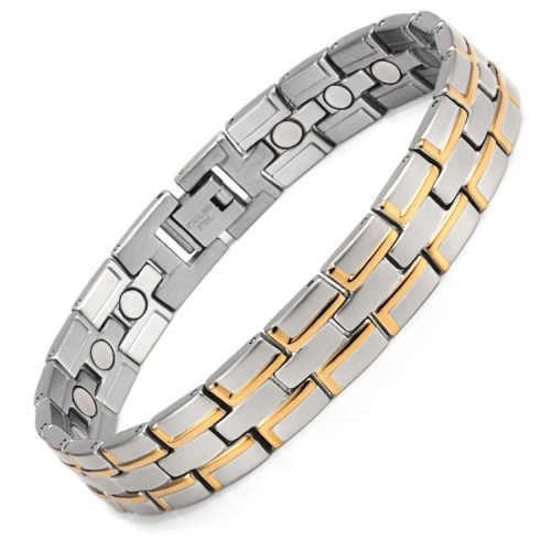 RunBalance full magnets stainless steel magnetic bracelet