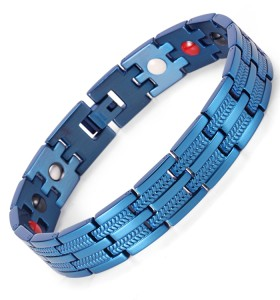 Vigor 4 in 1 elements stainless steel magnetic bracelet Blue fashion bracelet