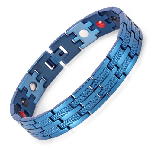 Vigor 4 in 1 elements stainless steel magnetic bracelet Blue fashion bracelet