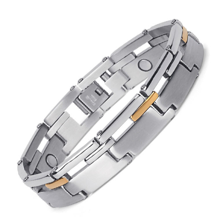 Tonicity full magnets stainless steel magnetic bracelet