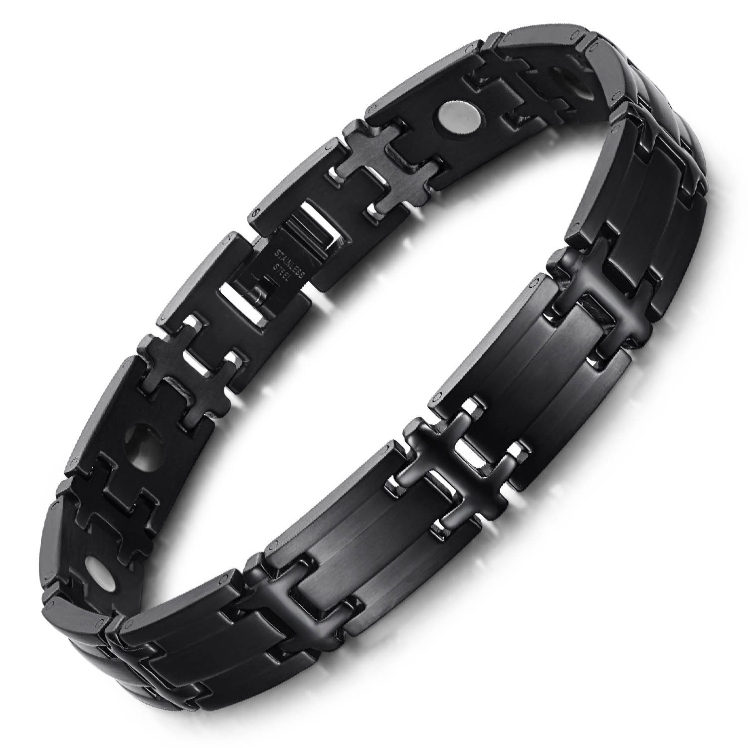Haleness full magnets stainless steel magnetic bracelet