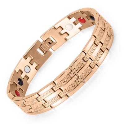 Vigor 4 in 1 elements stainless steel magnetic bracelet for men