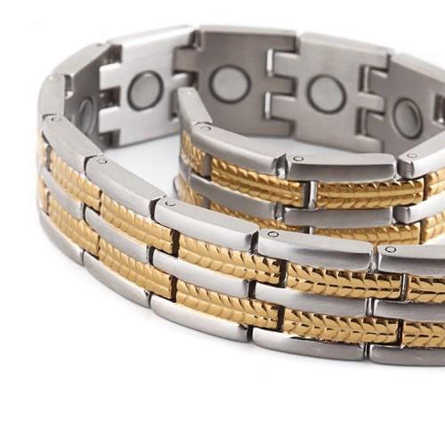 Vigor full magnets stainless steel magnetic bracelet
