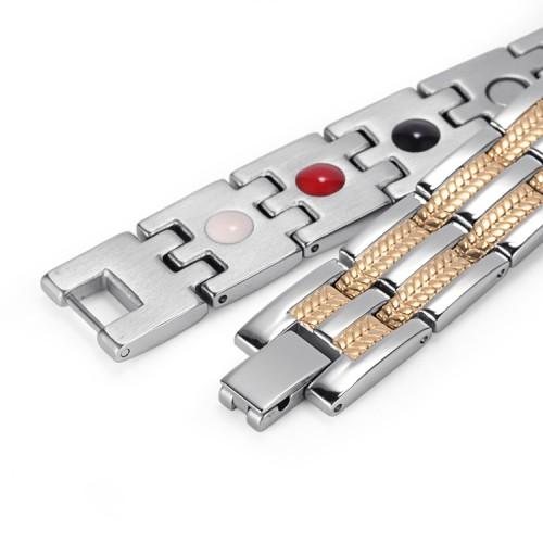 Vigor 4 in 1 elements stainless steel magnetic bracelet