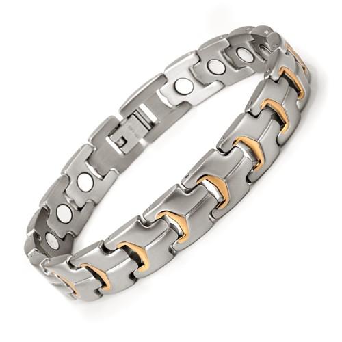 Spryness full magnets stainless steel magnetic bracelet