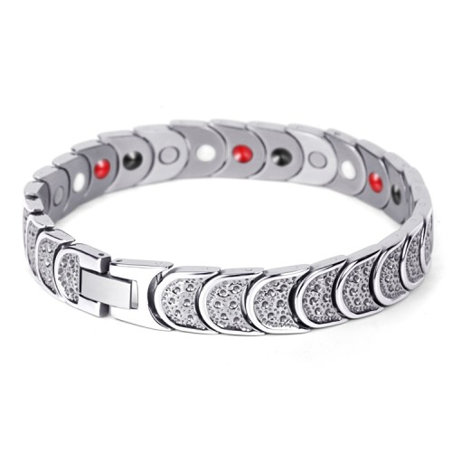 Robustness 4 in 1 element stainless steel magnetic bracelet Silver
