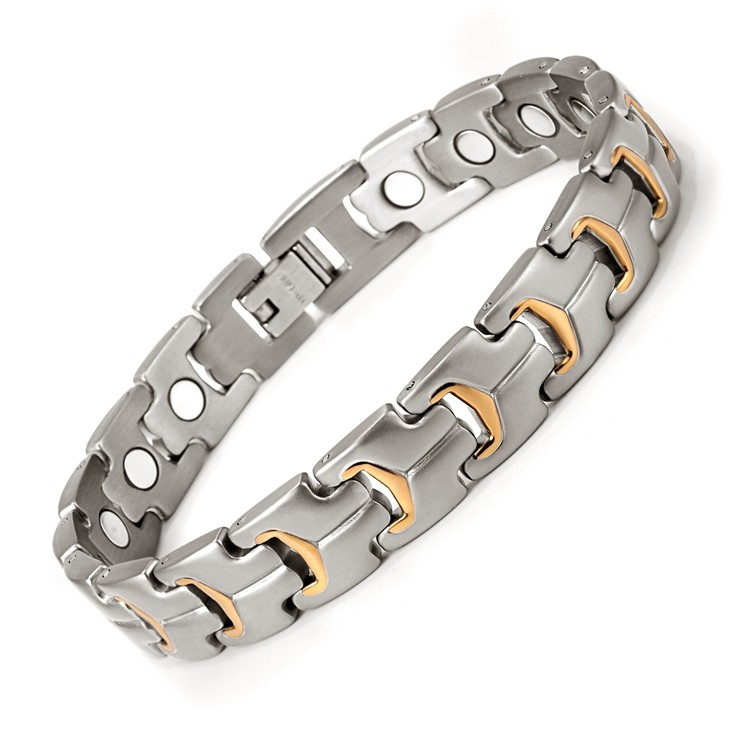Spryness full magnets stainless steel magnetic bracelet