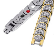 Robustness 4 in 1 element stainless steel magnetic bracelet