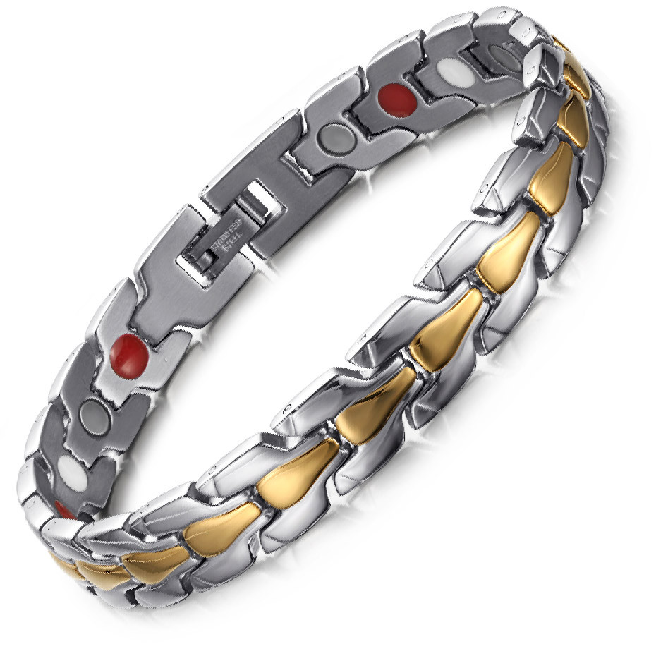 Top Form 4 in 1 element stainless steel magnetic bracelet