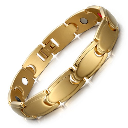 Stamina 4 in 1 element stainless steel magnetic bracelet Gold
