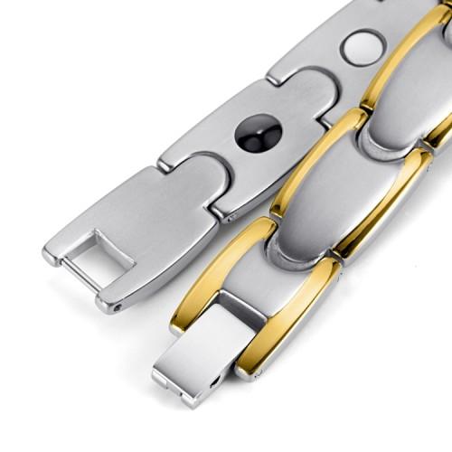 Stamina full magnets stainless steel magnetic bracelet