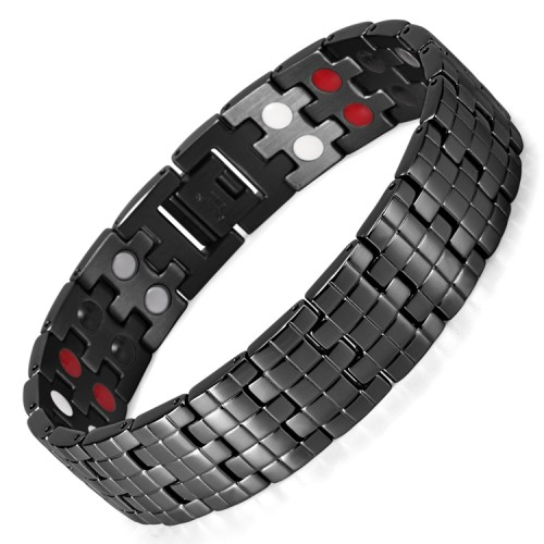 Mosaic 4 in 1 element stainless steel magnetic bracelet Balance