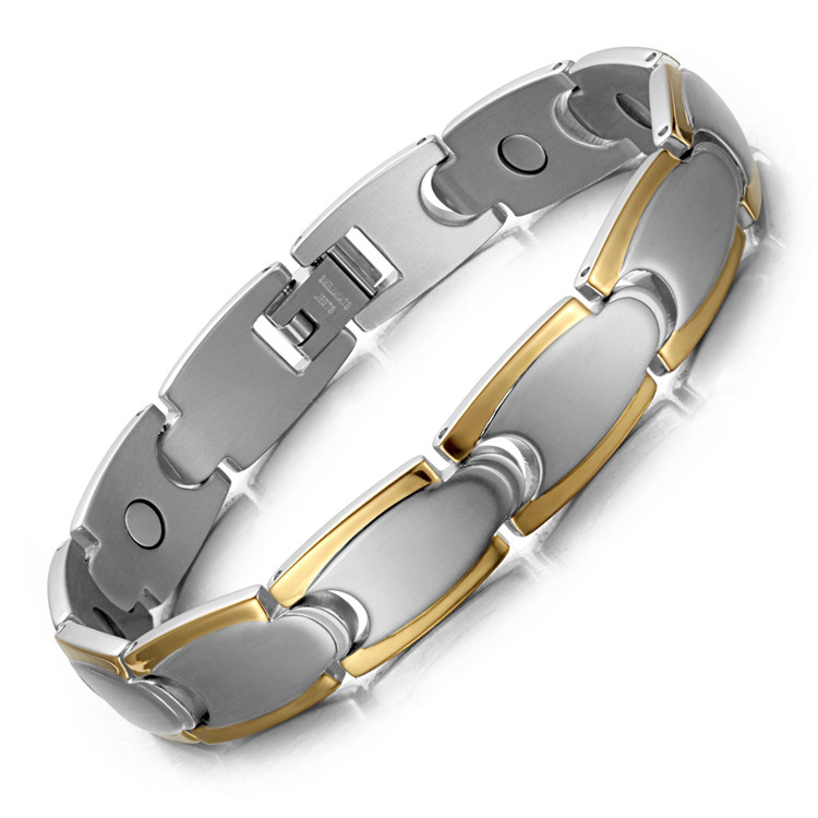 Stamina full magnets stainless steel magnetic bracelet