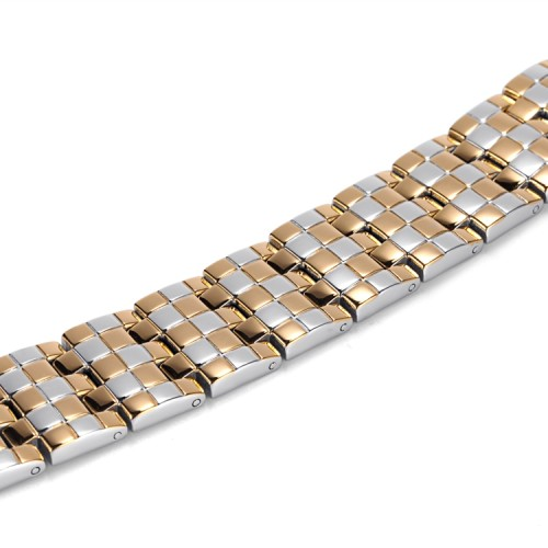 Mosaic 4 in 1 element stainless steel magnetic bracelet