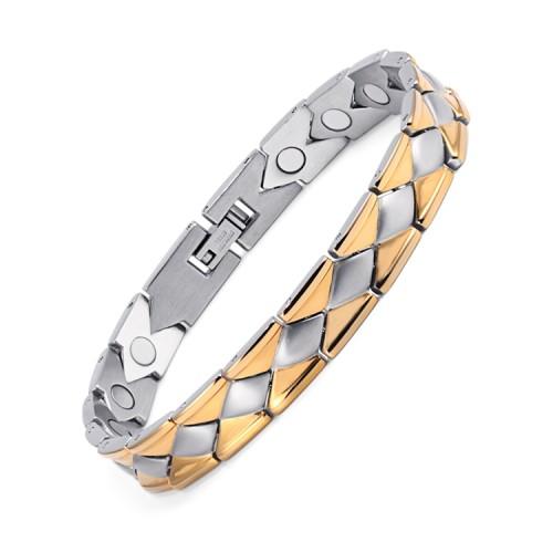 Phase full magnets stainless steel magnetic bracelet