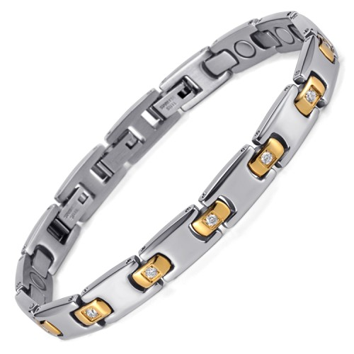 Euphoria full magnets stainless steel magnetic bracelet with 3 adjustable clasp