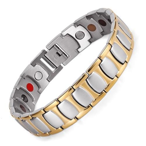 Bliss 4 in 1 element stainless steel magnetic bracelet