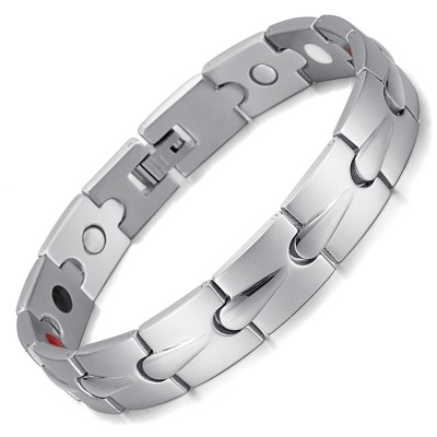 WaterDrop 4 in 1 element stainless steel magnetic bracelet Silver