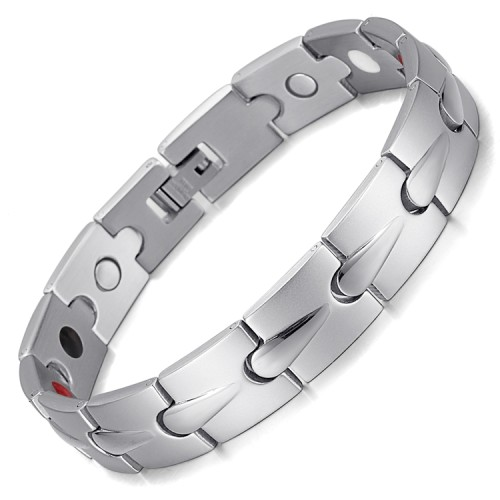WaterDrop 4 in 1 element stainless steel magnetic bracelet Silver