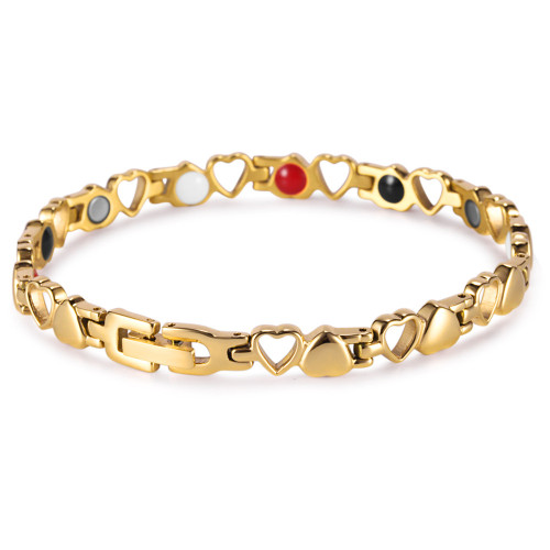 Heart pattern women titanium magnetic bracelet