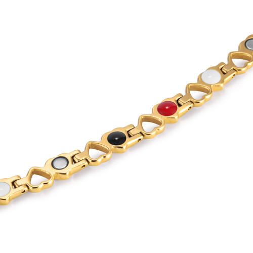 Heart pattern women titanium magnetic bracelet