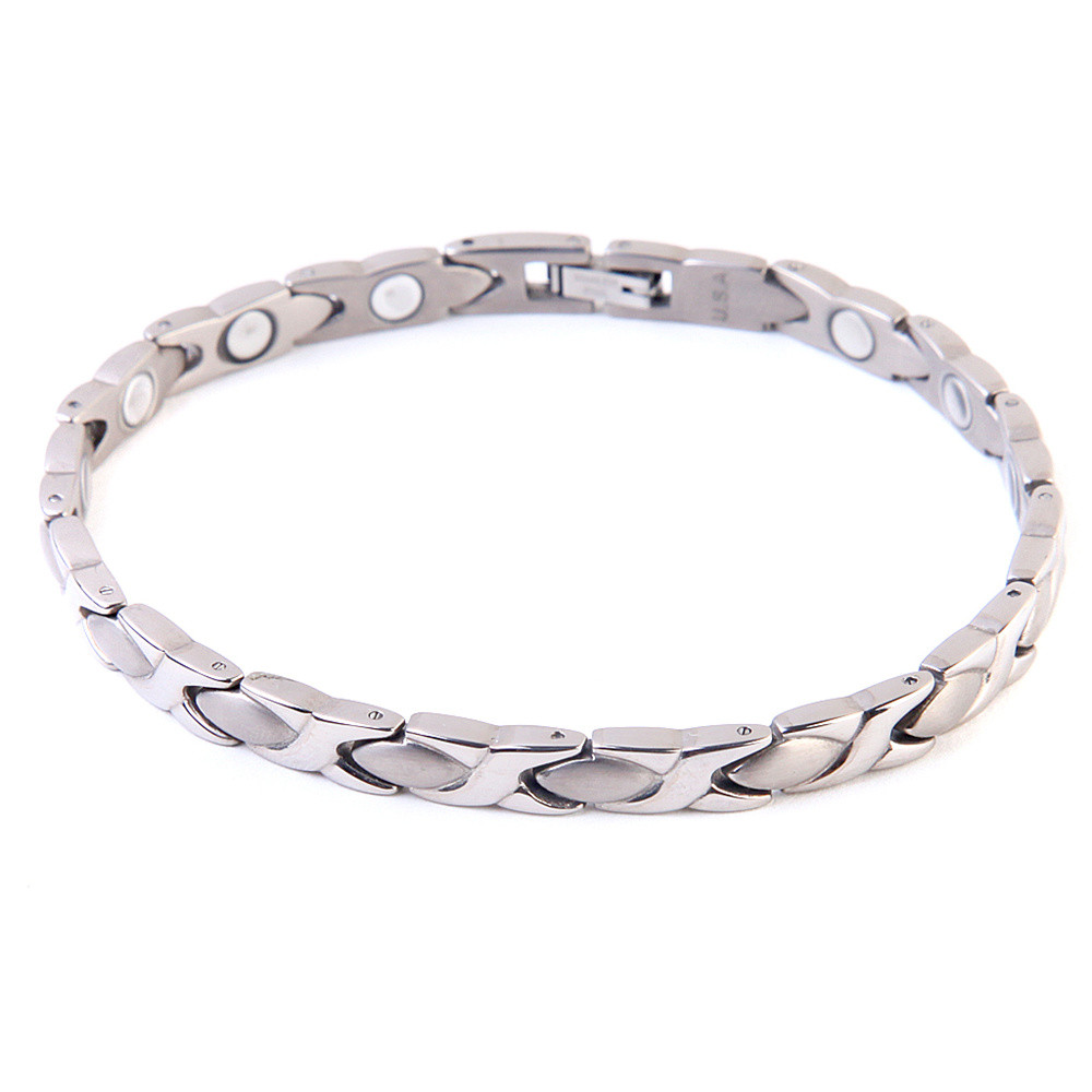 Luxury lady titanium magnetic bracelet