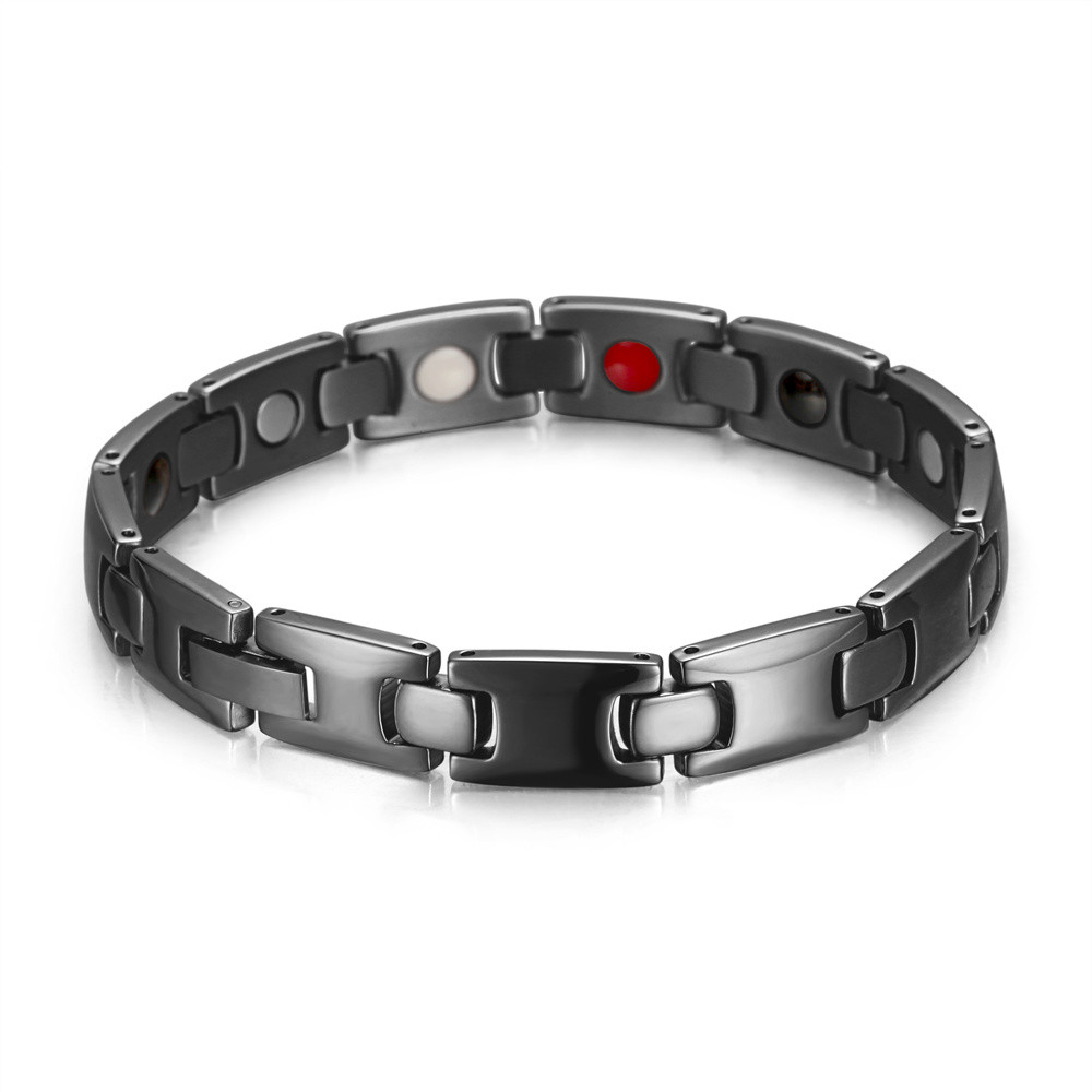 Black color man sport healthcare magnet bracelet