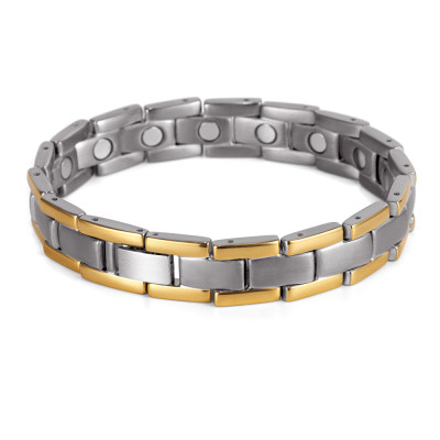 Pure titanium men bio energy magnetic bracelets