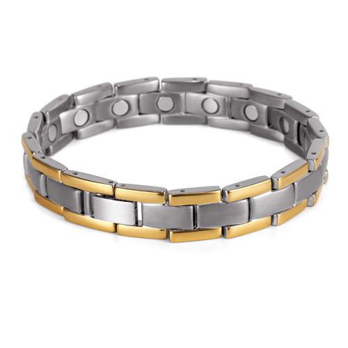 Pure titanium men bio energy magnetic bracelets